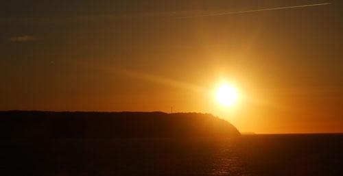 Kreidefelsen bei Sonnenuntergang